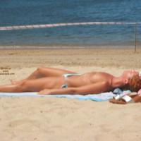 Topless Blonde In Deep Water Bay Hong Kong