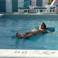 Wife 48 At The Tiki Bar And Pool In South Fla