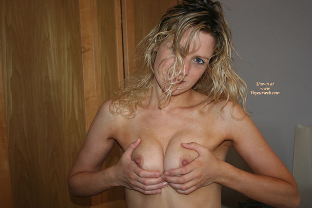 Squeezing Boobs - Perky Nipples, Topless, Looking At The Camera , Squeezing Breasts, Tit Holding, Tits Pushed Together, Pointed Nipples, Smiling At Camera, Topless Indoor, Sharp And Pointed Nipples, Holding Tits Together