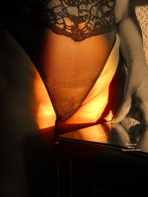 Artistic Bush In See Thru Lingerie , Lingerie Pussy, See Through Black Teddy Lingerie, Lingerie, Body Stocking Reflecting, Black Sheer Lace Teddy, Tight Shot On Lighted Pussy, Golden Light And Shadows, Pubic Hair