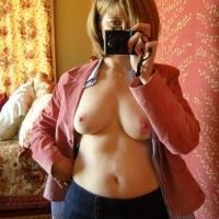 Medium tits of my wife - Margot