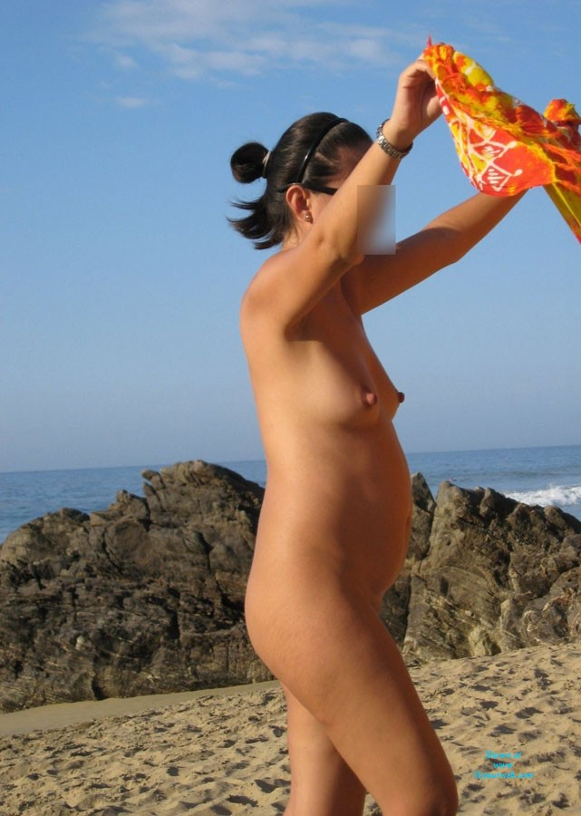 Pregnant Woman On The Nude Beach - July, 2013 - Voyeur Web-1248