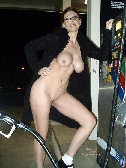 Naked In Public - Nude In Public , Naked In Public, Full Frontal View, Nude Pumping Gas