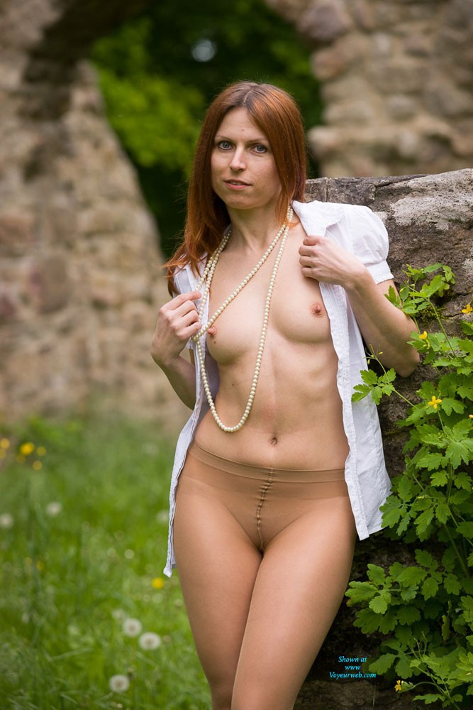 Nylon Pantyhose - Nude In Public, Pussy Lips, Redhead, Shaved , HI All! Thanks For Your Comments To My First Contributions. I Decided To Have Another Try In My Pantyhose. Hope You Like It.