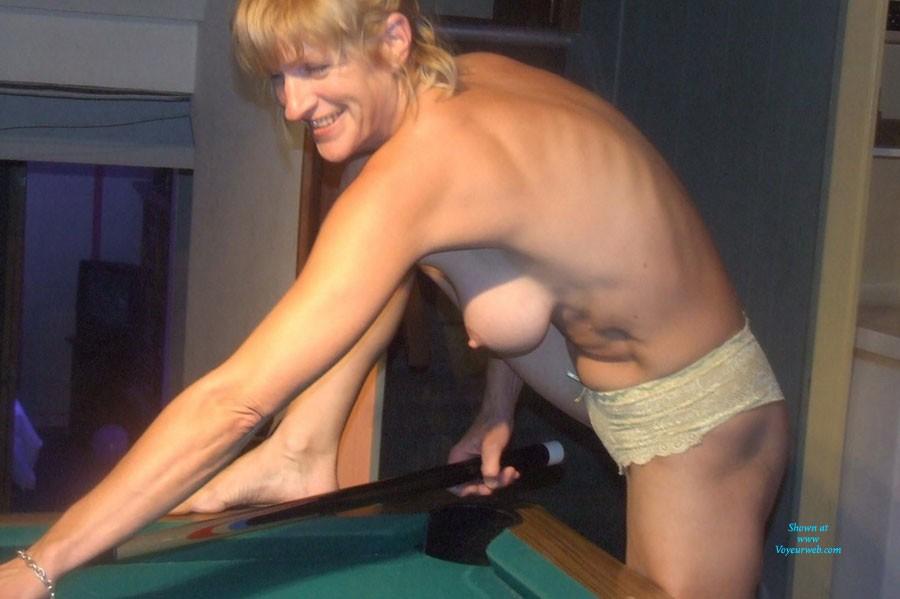 Naked pool playing