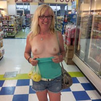 My Girl GG - Blonde, Flashing, Public Exhibitionist, Public Place, Dressed, Natural Tits, Pussy, Shaved, Small Tits, Wife/wives