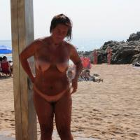 Doccia - Beach, Big Tits, Wet
