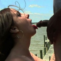 Lizzy's Fun in The Sun - Brunette Hair, Nude Outdoors, Perfect Tits , Lizzy Was Out By The River In A Sexy Pink Dress.  She Got Down On Her Knees And Had Some Fun With The Bc