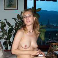 Balkan Girl On The Couch - Blonde Hair, Hard Nipple, Perfect Tits, European And/or Ethnic