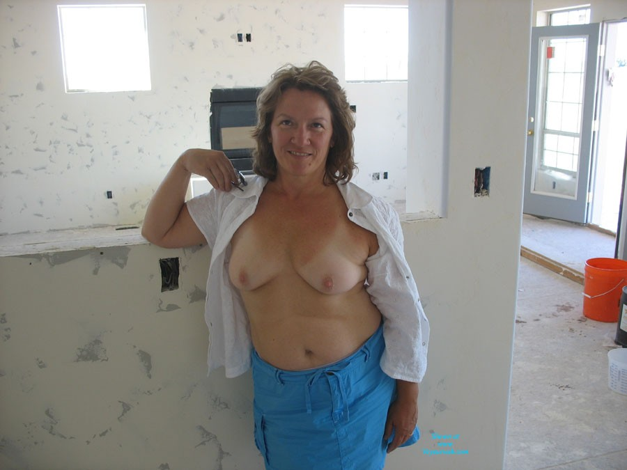 Pic #1Showing Off in Construction Homes - Brunette, Medium Tits, Bush Or Hairy, Pussy