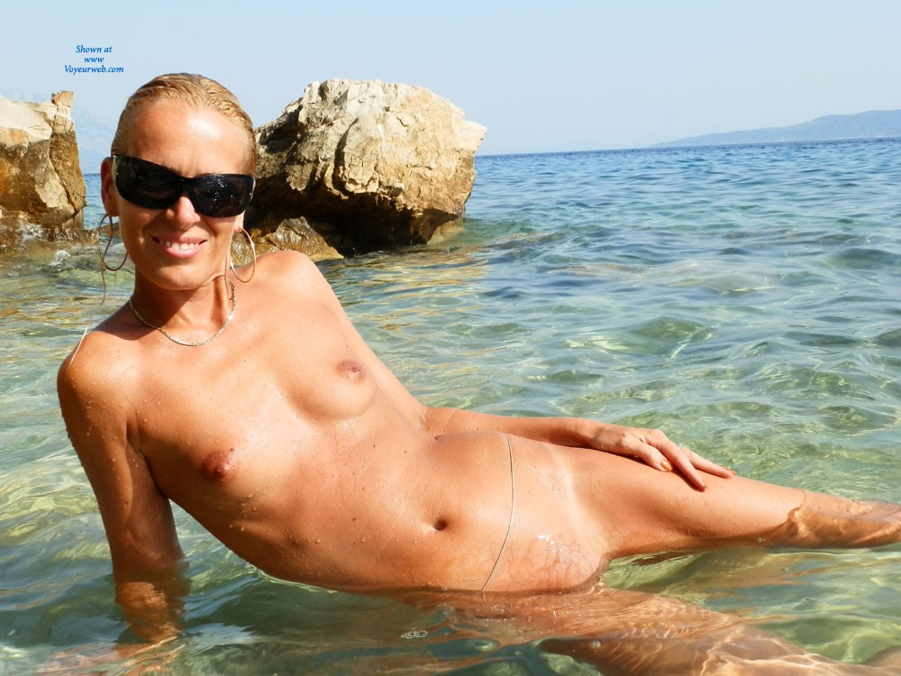 Pic #1Makarska Riviera - Beach, Blonde, Shaved, Small Tits, Close-ups, Firm Ass, Hard Nipples, Pussy, Wet