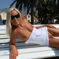 At The Harbour - Blonde Hair, Exposed In Public, Flashing, Hard Nipple, Heels, Nude In Public, Pussy Lips, Shaved, Small Tits , Naughtiness In The City On The Hottest Day On My Holiday. Is Everybody Satisfied?