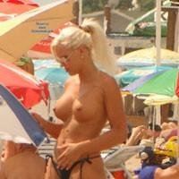 The Blonde Wonder - Big Tits, Blonde Hair, Beach Voyeur