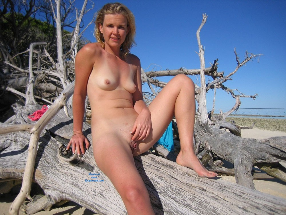 Tropical Island - Blonde Hair, Hard Nipple, Small Tits, Beach Voyeur , I Just Love To Be Naked On The Beach. The Sea Air Does Something To Me That Makes Me Take My Clothes Off!