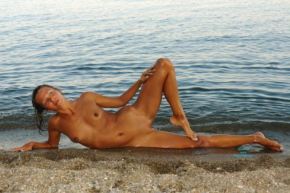 Pic #1Naughty Beach - Shaved, Brunette, Beach, Beautiful Ass, Firm Ass, Hard Nipples, Long Legs, Natural Tits, Round Ass, Small Tits