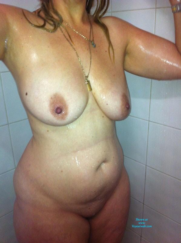 Pic #1Shower Time - Big Tits, Hard Nipples, Wet
