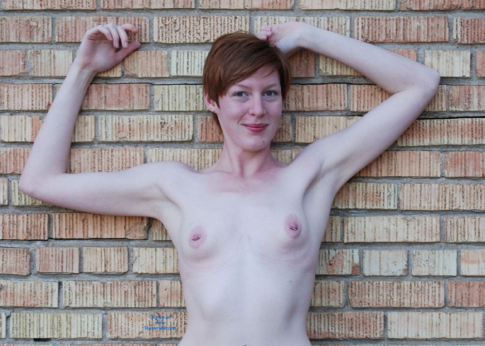 Pic #1Around Queen City - Body Piercings, Public Exhibitionist, Public Place, Redhead, Small Tits, Pussy, Bush Or Hairy