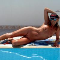 Poolside Tanning - Bikini, Nude Outdoors, Wet