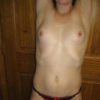 First Time - Hard Nipples, Brunette, Lingerie