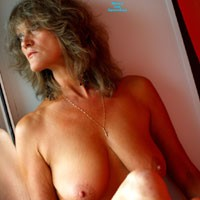 Window - Mature, Big Tits, Blonde, Firm Ass, Pussy, Shaved