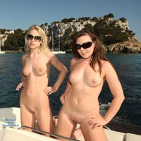 Naked Into Port - Blonde Hair, Brunette Hair, Exposed In Public, Hard Nipple, Natural Tits, Navel Piercing, Nude In Public, Perfect Tits, Pussy Lips, Shaved, Beach Voyeur, European And/or Ethnic , We Hired A Speed Boat For A Couple Of Hours, The Guys Driving Didn't Mind When Chloe And Cacie Got Naked On The Back But Even I Was A Bit Surprised How Slow Chloe Was To Get Her Clothes Back On When We Arrived Back In The Harbour.  She Just Sat On The Back Waving To People As We Sailed Past Tourists