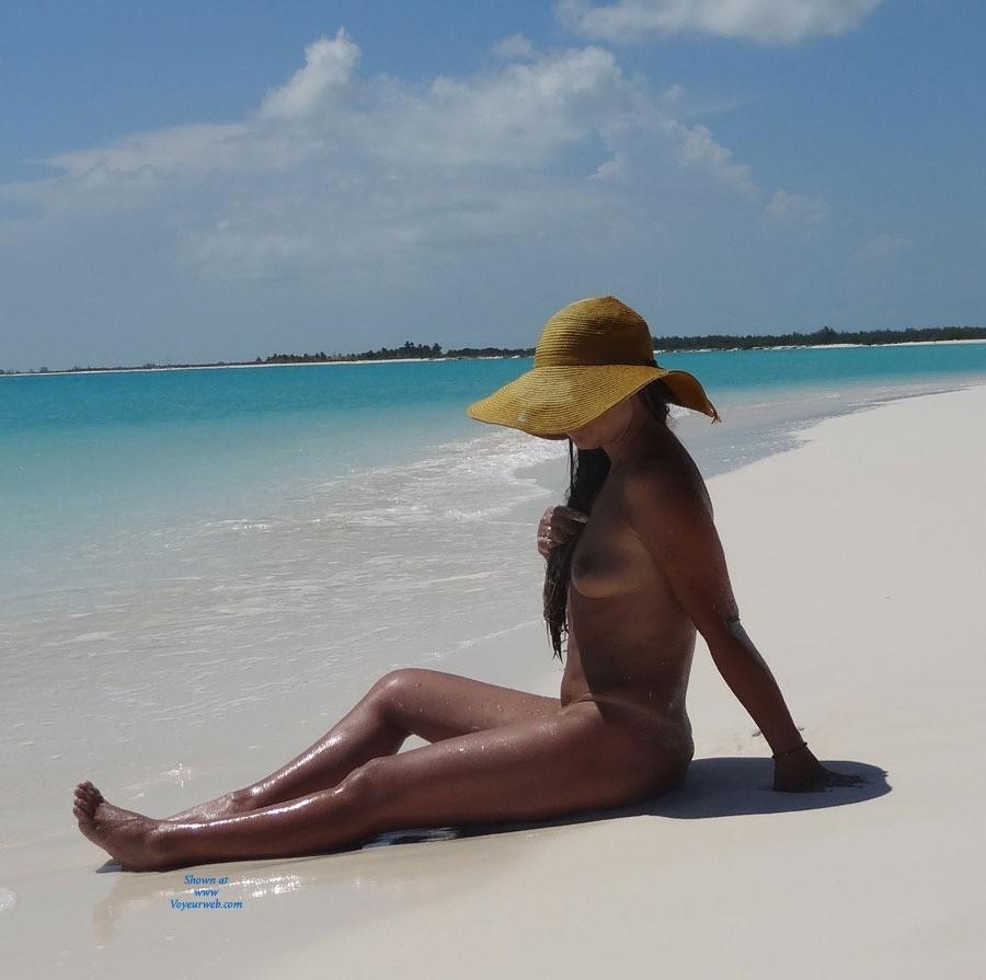 Island Hotel - Brunette Hair, Perfect Tits, Wet, Beach Voyeur , At The Beach