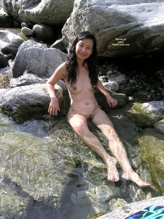 In 'Piccolo Paradiso' (Part 2) - Asian Girl, Brunette Hair, Nude In Public , Thank You Very Much For All The Nice Comments!