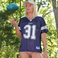 Football Anyone? - Nature, Shaved, Blonde, Mature