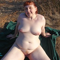 Outdoors At Sunset - Big Tits, Lingerie, Redhead, Bush Or Hairy, Nature, Bbw