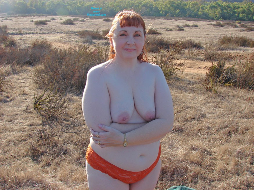 Pic #1Outdoors at Sunset 2 - Big Tits, Redhead, Bbw, Outdoors