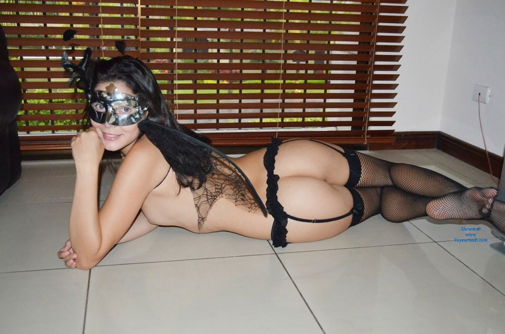 My Haloween Costume - Brunette Hair, Sexy Lingerie, Costume , Hey Guys, I Appreciate Your Nice Comments And Superb Votes. To My Best Fans I´m Going To Send An Exclusive Pic, So Please Leave Your Email. Thanks You Very Much. Xoxo Black Angel