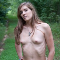 Anna in The Woods - Brunette, Nature, Small Tits, Tattoos
