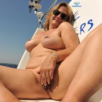 Sailing and Fingering - Big Tits, Masturbation, Shaved, Wet