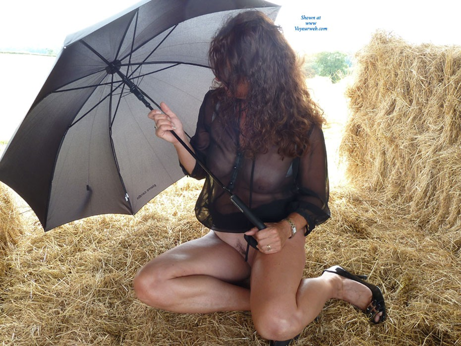 Hay Barn - Heels, See Through, Wife/wives , My Husband And L Were Out On Our Bikes On A Hot Summers Day And Noticed A Secluded Hay Barn. We Then Decided It Would Be A Great Opportunity For A Photo Shoot. 1st Time Submitting, So Look Forward To Your Comments.