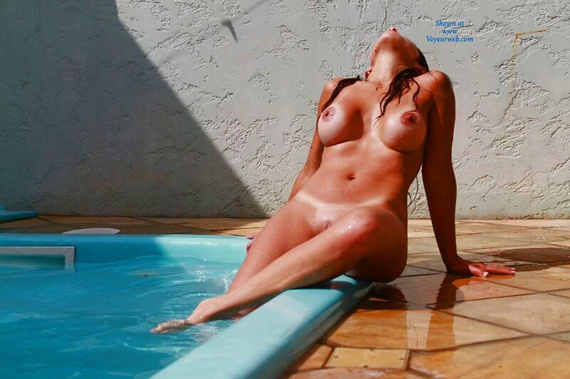 Wife Playing On The Pool - Big Tits, Brunette Hair, Wife/wives , My Beautiful Wife Loves The VW Page, So We Decided To Take Some Pics For You All. She's A Real Hot Brazilian Girl... Hope You All Love It!!
