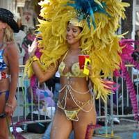 Best Ass @ Fantasy Fest - Costume , Fantasy Fest Set 6.  Ms. Voyeur Champ Was A True Show Stopper Just Walking Down The Street.