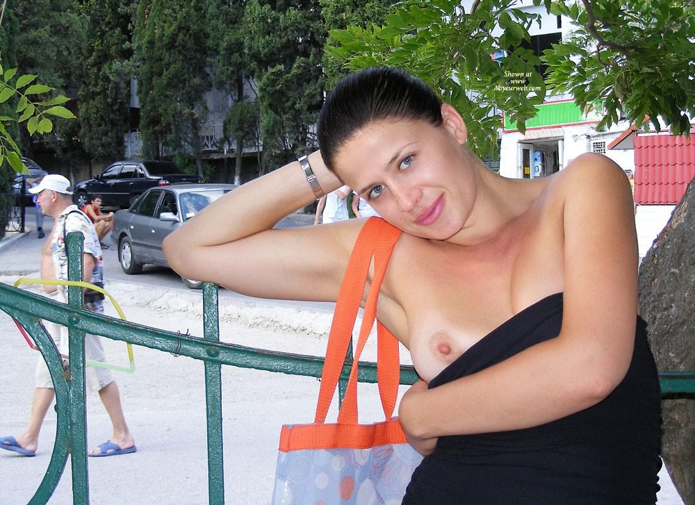 Pic #1Viko - Summer's Gone - Brunette, Flashing, Public Exhibitionist, Public Place, Shaved
