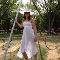 NAP 2012 See-Through White Dress - Outdoors, See Through