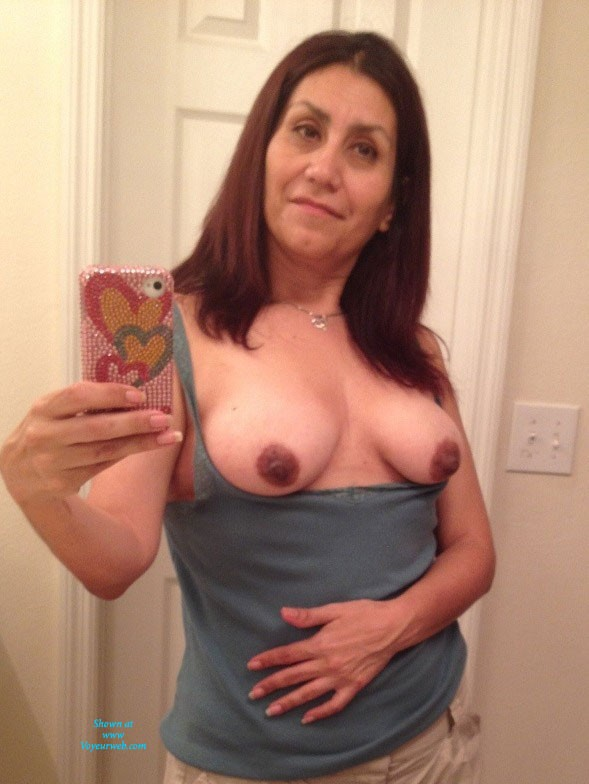 Pic #1Mexican The Best Around - Flashing, Latina, Natural Tits, Medium Tits, Brunette