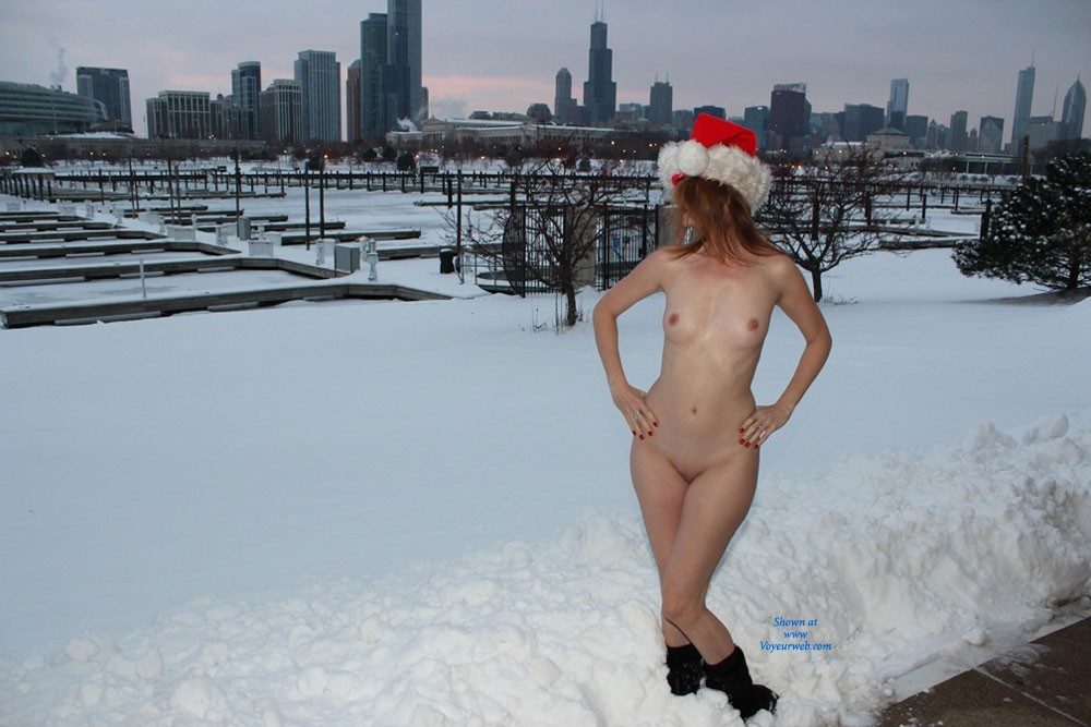Merry Christmas - Small Tits , Naked Fun In The Snow - Happy Holidays