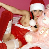Merry Christmas! - Brunette Hair, Costume, Young Woman , Merry Christmas Hou,hou,hou... Kisses, Leila
