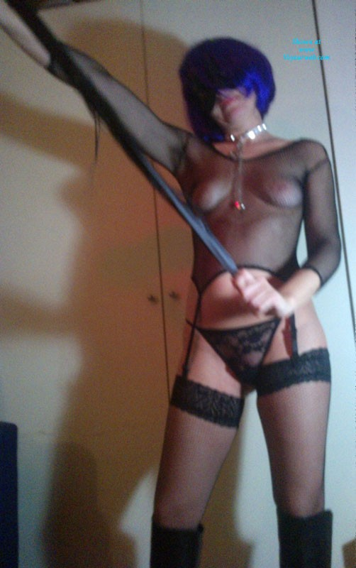 Pic #1LadyMM Italian Milf in Her Domina Outfit - Lingerie, S&m, See Through, Small Tits