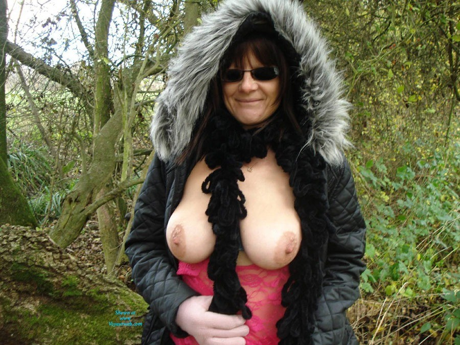 Winter Walk - Big Tits, Nude In Public, See Through , Out Walking On A Cold Day But Always Ready To Do A Little Flashing