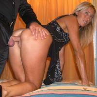 In Evening Dress - Blonde Hair, Penetration Or Hardcore