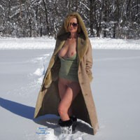 Virgin Snow! - Big Tits, Blonde Hair , Big Blast Of Snow Overnight And We Jumped At It...then Went Grocery Shopping.