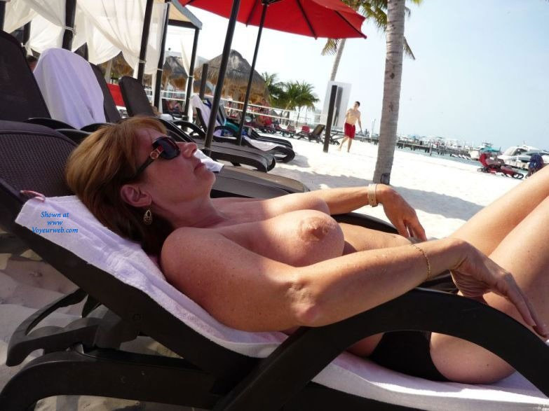 The Warmth of The Sun - Big Tits, Beach Voyeur , Just Relaxing And Soaking Up The Sun.