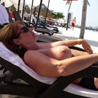 Feeling The Warmth of The Sun - Big Tits, Bikini, Brunette Hair, Exposed In Public, Hanging Tits, Huge Tits, Nude Beach, Nude In Public, Nude Outdoors, Showing Tits, Sunglasses, Beach Tits, Beach Voyeur, Sexy Boobs, Sexy Legs, Sexy Woman , Brunette, Beach, Nude In Public, Sunbathing, Sunglasses, Outdoor, Sunglasses, Big Tits, Legs