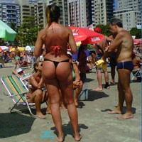 Brazilian Beach Big Butt - Beach, Bikini Voyeur