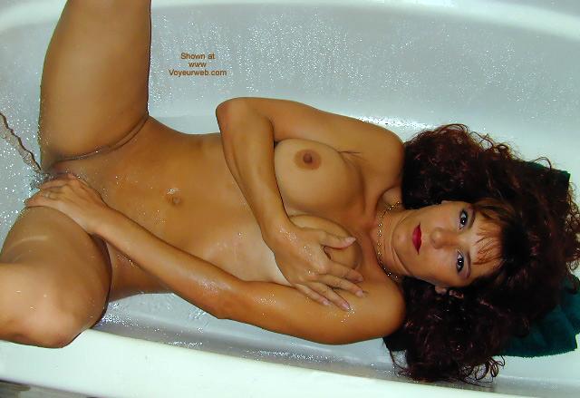 Bath - Bath, Pleasure, Shaved Pussy, Water , Bath, Water, Brunette In Tub, Tub Pleasure, Water Pleasure, Shaved Pussy