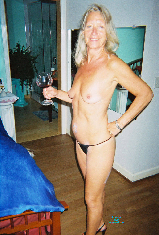 Topless Blonde At Home With Wine - Blonde Hair, Heels, Natural Tits, Showing Tits, Hot Girl, Sexy Body, Sexy Boobs, Sexy Face, Sexy Figure, Sexy Girl, Sexy Legs, Sexy Woman , Blonde Girl, Topless, Pantie, Wine, Heels, Legs, Medium Tits
